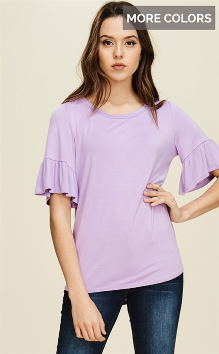 Picture of Belle Ruffle Sleeve Top