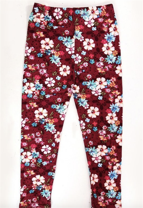 Picture of Kids Wine Floral Leggings