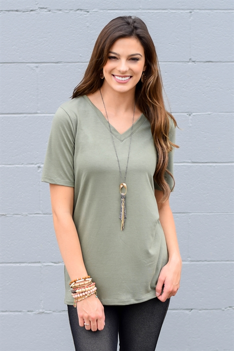 Picture of Lux Basic V Neck Tee