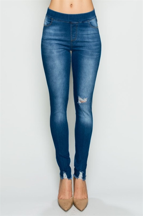 Picture of New Distressed Denim Jeggings