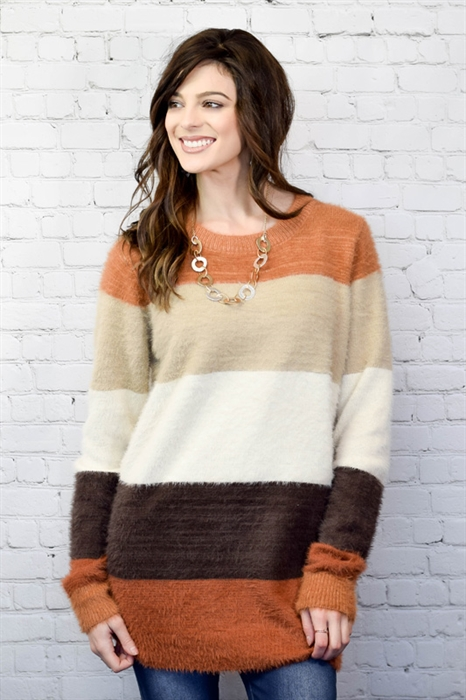 Picture of Brown Sugar Fuzzy Sweater