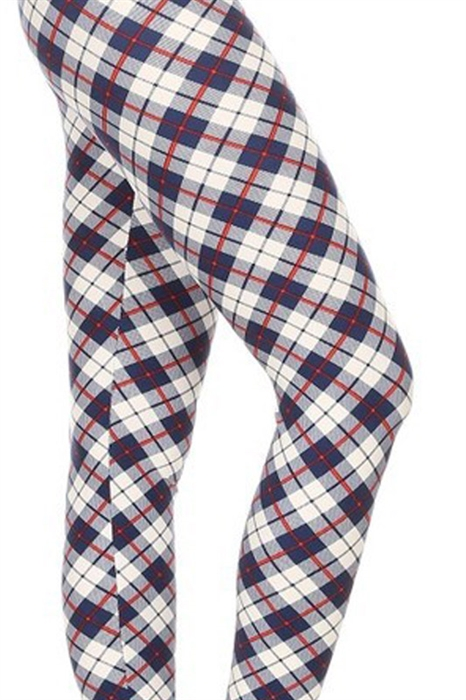 Picture of Kids Navy Diamond Plaid Leggings