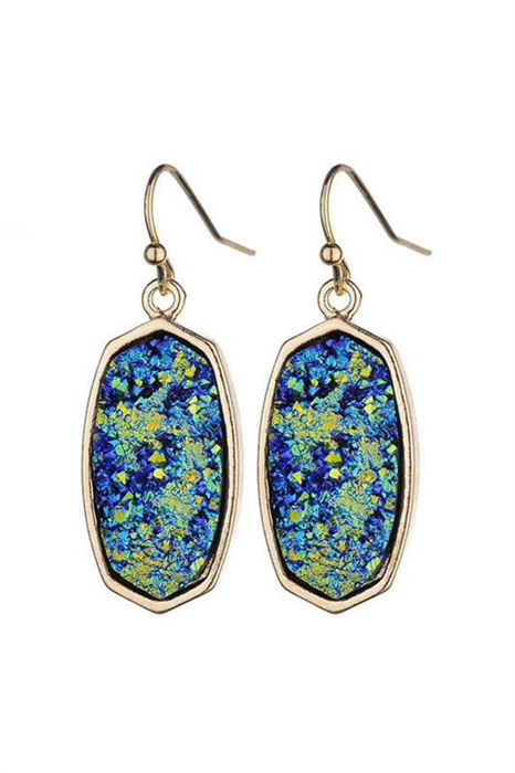 Picture of Sonia Hex Druzy Earrings