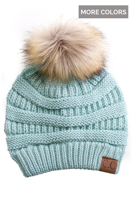 Picture of CC Faux Pom Beanies