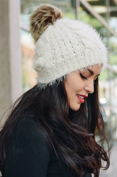 Picture of Mohair Pom Beanie