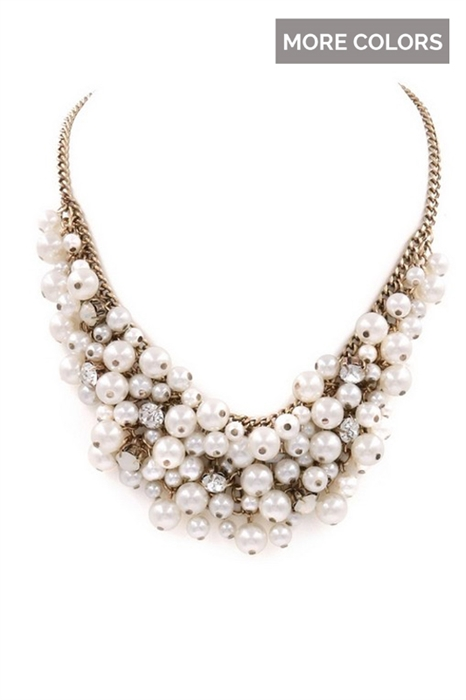 Picture of Faux Pearl Cluster Necklaces