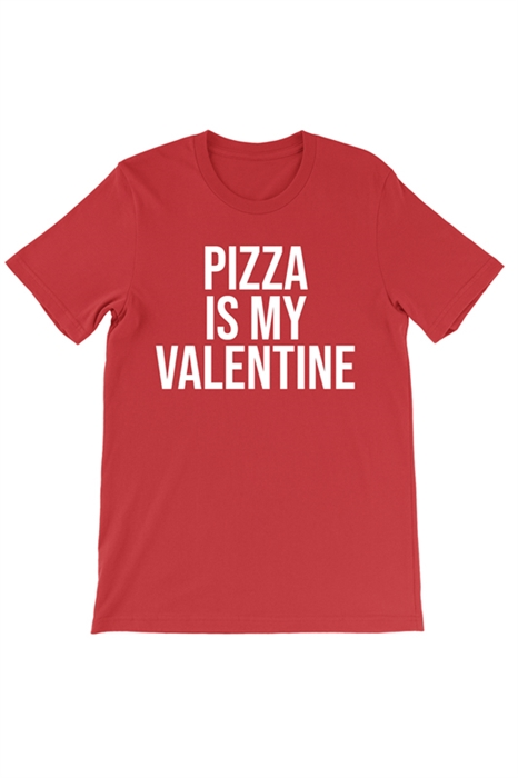 Picture of Pizza Is My Valentine Men's Graphic Tee