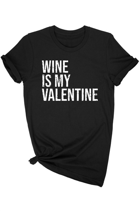 Picture of Wine is My Valentine Graphic Tee