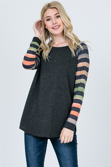 Picture of Elaine Striped Sleeve Top