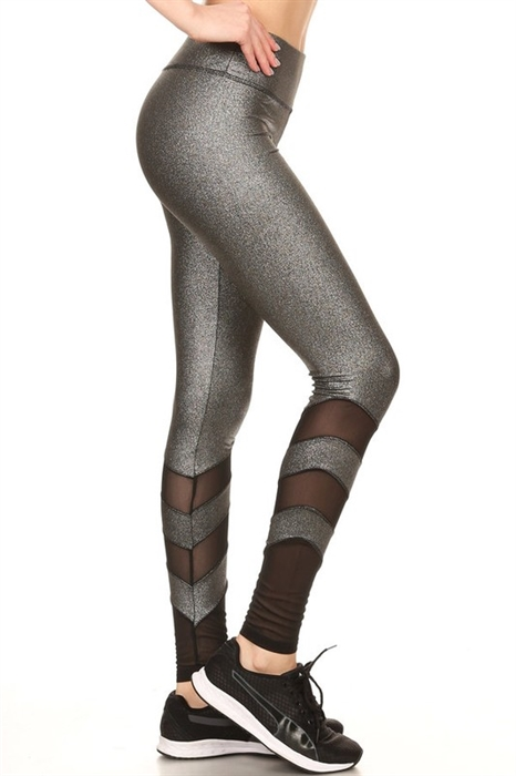 Picture of Metallic Mesh HP Active Leggings