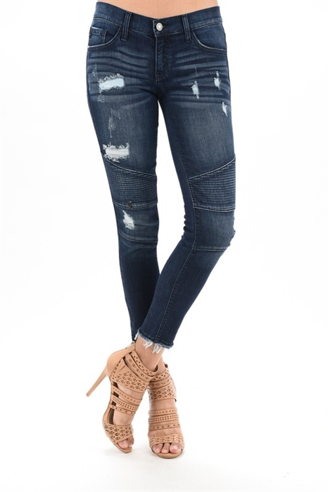 Picture of Shawny Premium Distressed Moto Jeans
