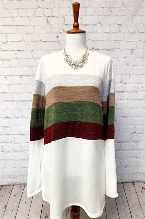 Picture of Curvy Colorblock Top