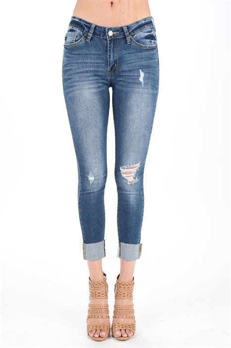 Picture of Stephanie Distressed Premium Jeans