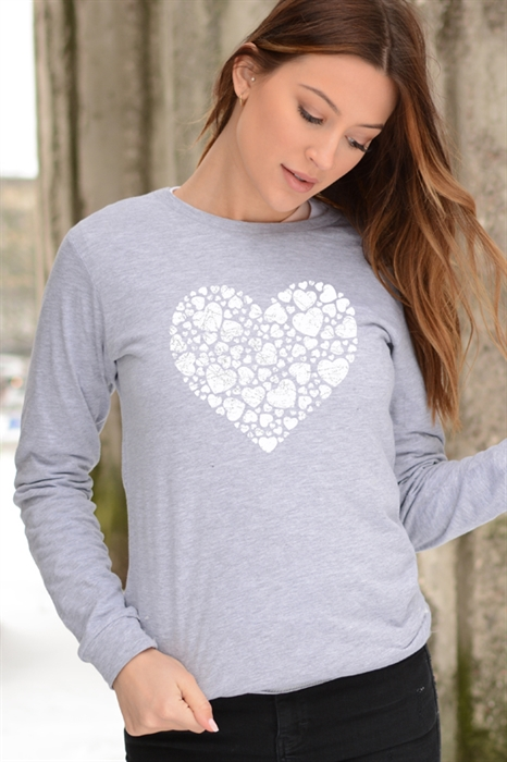 Picture of Multi Heart Graphic LS Tee