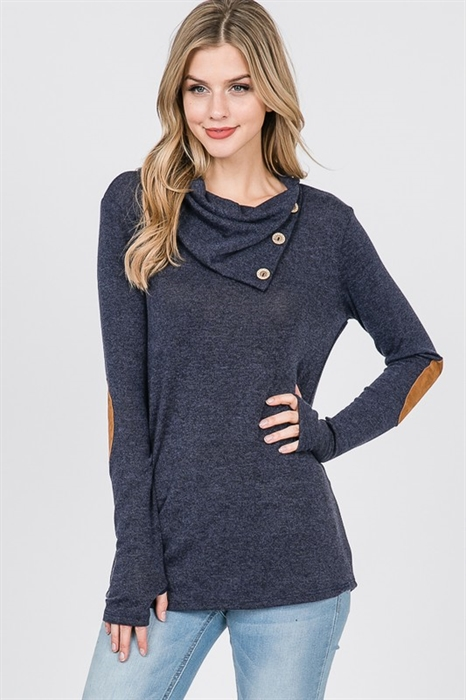 Picture of Emalyn Open Button Lightweight Sweater