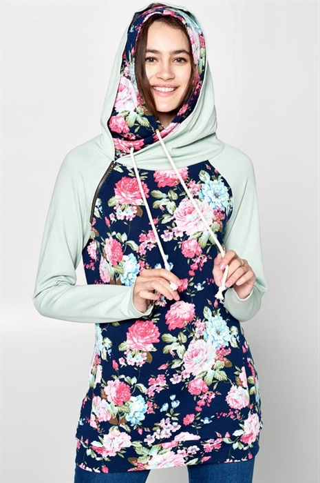 Picture of Premium Sage Floral Double Hoodie