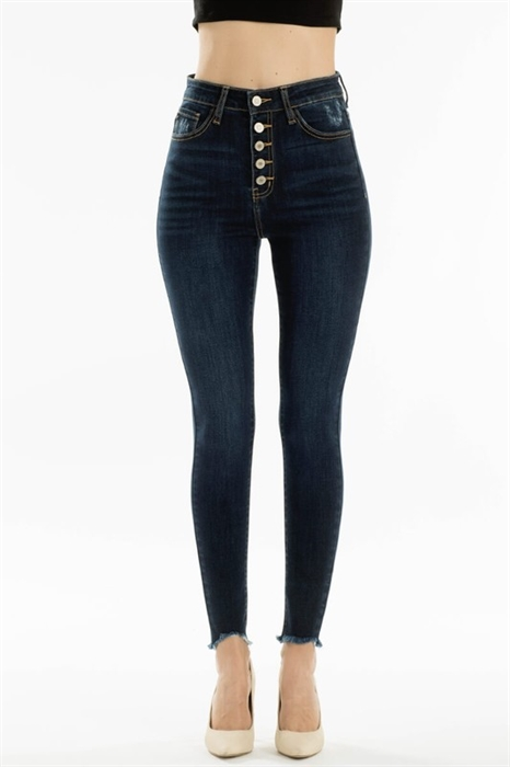 Picture of Julie Premium Ultra High Waist Button Up Jeans