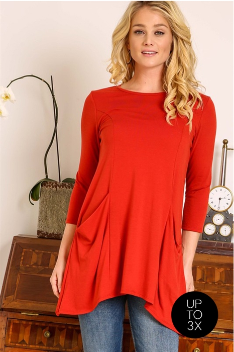 Picture of Ciara 3/4 Sleeve Tunic