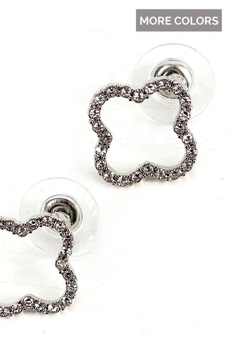Picture of Clover Rhinestone Earrings
