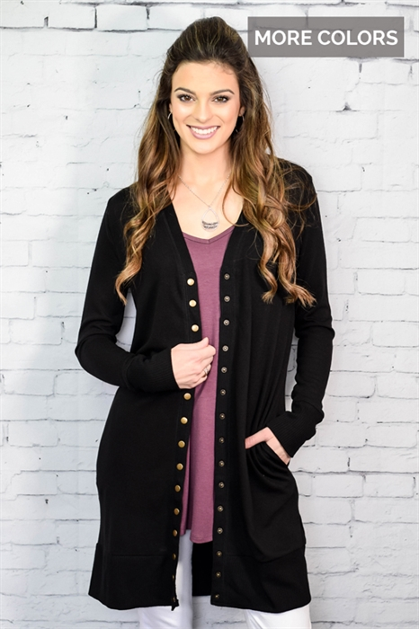 Picture of Stella Long Snap Cardi