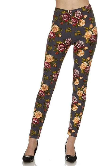 Picture of Steel Floral High Waist Leggings
