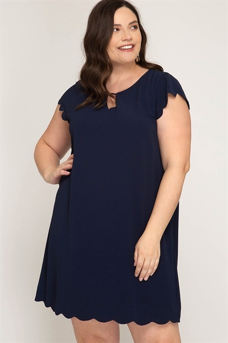 Picture of Marilyn Scalloped Curvy Dress