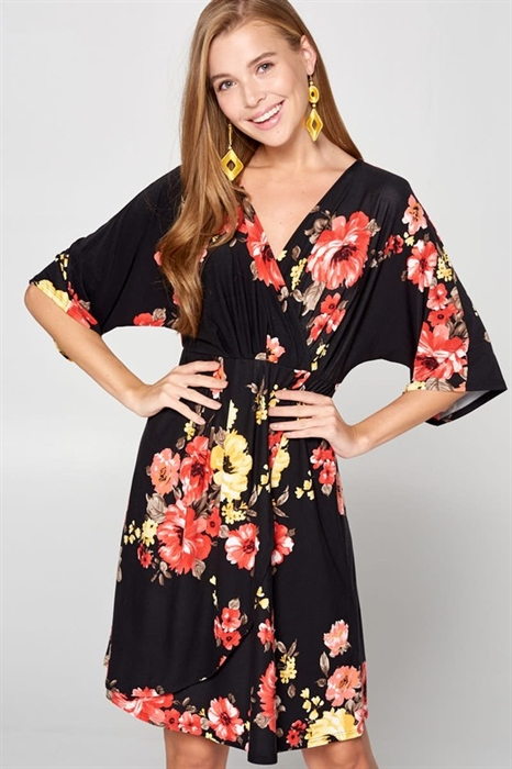 Picture of Daiya Floral Wrap Dress