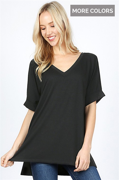 Picture of Hazel High Low V-Neck Top
