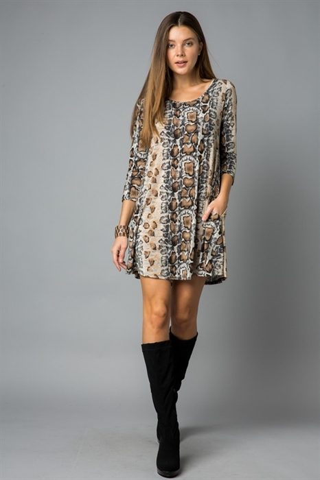 Picture of Curvy Snakeskin Dress