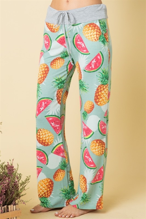 Picture of Hello Pink Tropical Fruit Lounge Pants
