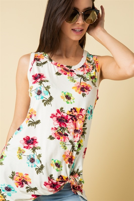 Picture of Jada Twist Bottom Floral Top