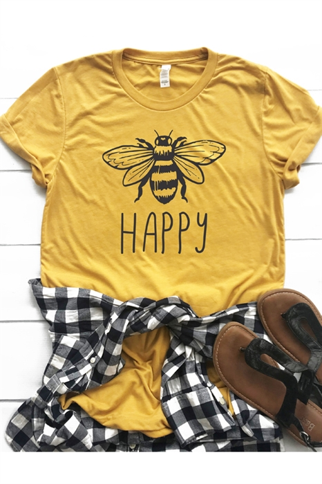 Picture of Bee Happy Graphic Tee
