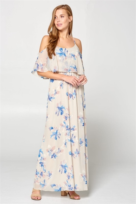 Picture of Romantic Ruffles Floral Maxi