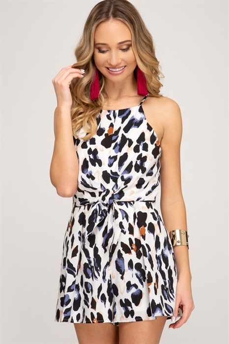 Picture of Hey Girl Leopard Romper
