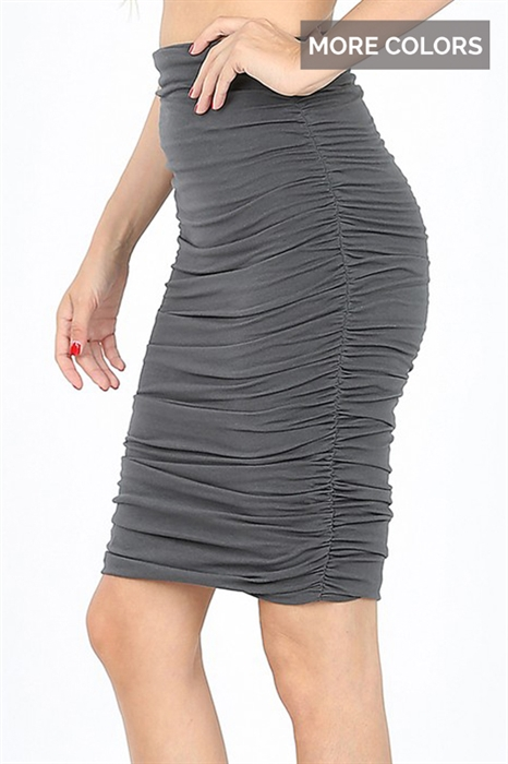 Picture of Shirred Pencil Skirts