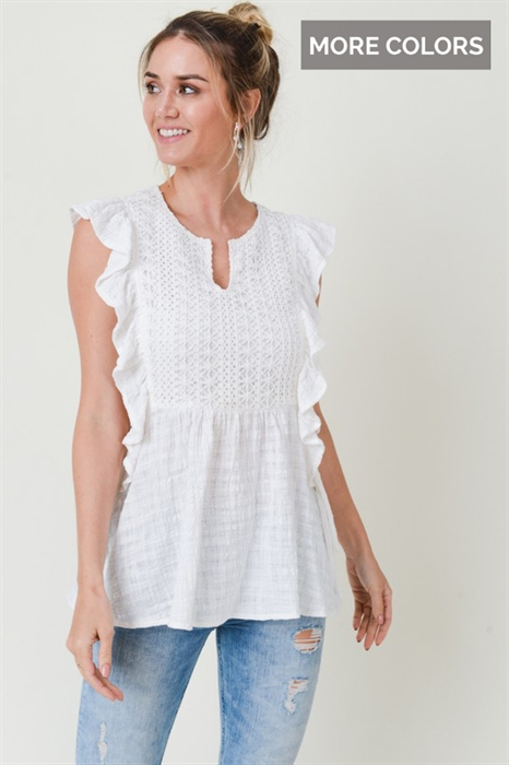 Picture of Hilary Premium Tie Side Gauze Top