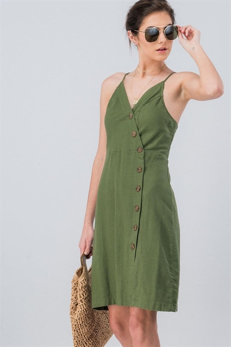 Picture of Olive Side Button Dress