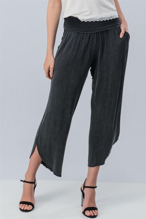 Picture of Vintage Burnout French Terry Pants Black