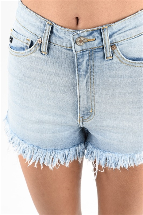 Picture of Premium Light Wash Frayed Shorts