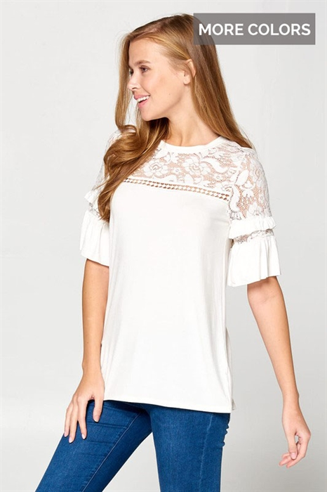 Picture of Karly Ruffle Lace Top