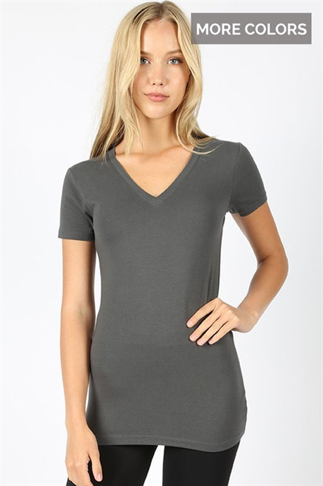 Picture of Basic V-Neck Tops