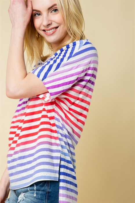 Picture of Curvy Kaylee Striped Top
