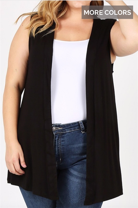 Picture of Curvy Sleeveless Cardigan