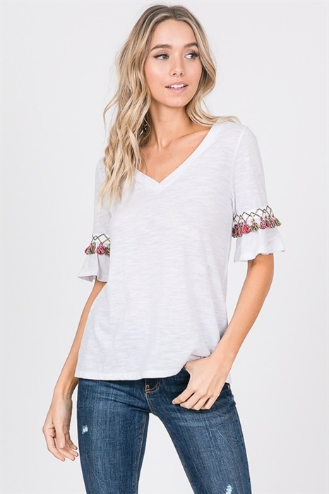 Picture of Moroccan V-Neck Tassel Top