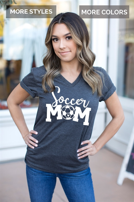 Picture of Sports Mom V-Neck Graphic Tees