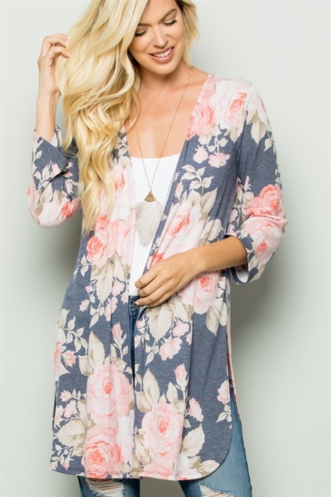Picture of Audrina Floral Cardigan