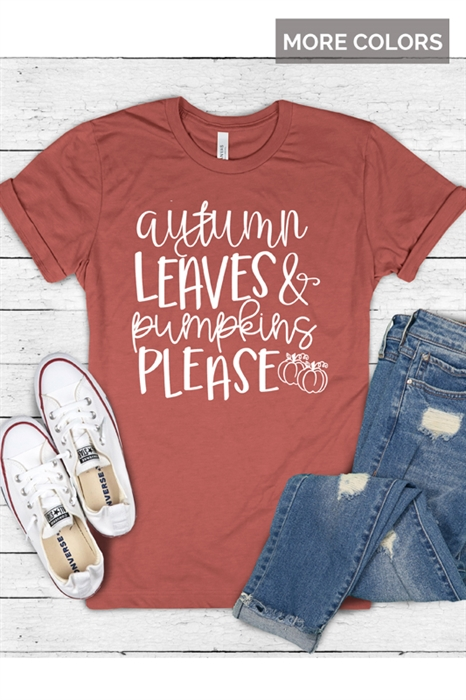 Picture of Autumn Leaves Graphic Tee