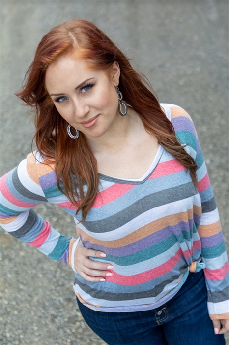 Picture of Alissa Striped Long Sleeve Top