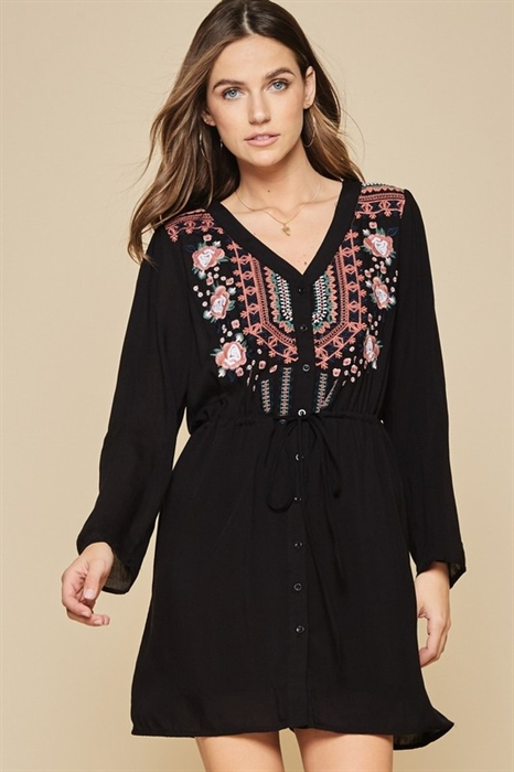 Picture of Angelina Fall Embroidered Dress