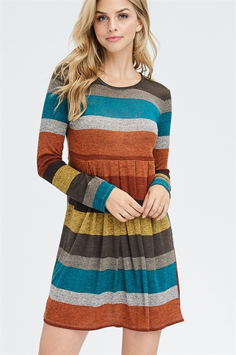 Picture of Karla Pleated Fall Dress
